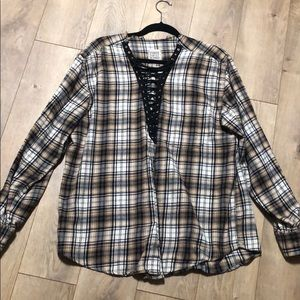 Furst of a kind flannel top